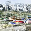 Beached Boats Dysart by John Bonington