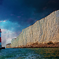Beachy Head Lighthouse And Cliffs by Chris Lord