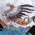 Beaked Dragon Flies Above The Sea by Carol  Law Conklin