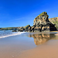 Bedruthan Steps by Carl Whitfield