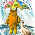 Beebs And Goosey In The Rain by Heart-Led Woman