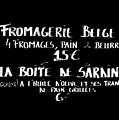 Belgian Cheese And Sardines Menu by Carol Groenen