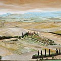Belvedere - Tuscany by Trevor Neal