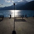 Bench And Street Lamp by Mats Silvan