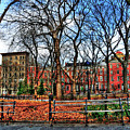 Bench View In Washington Square Park by Randy Aveille