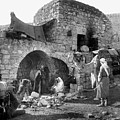 Bethlehem - Nativity Scene Year 1900 by Munir Alawi