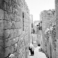 Bethlehem - Old Woman Walking 1933 by Munir Alawi