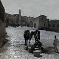 Bethlehem Street Scene 1911 by Munir Alawi