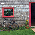 Bicycle At Barn by Steve Somerville