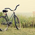 Bicycle On Beach Summer's On The Coast by Stephanie McDowell