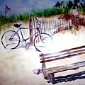 Bicycle On The Beach by Sandy Ryan