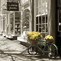 Bicycle With Flowers - Nantucket by Henry Krauzyk