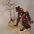 Bigfoot On Crystal by Judy Byington