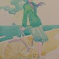 Biking By The Sea by Gary Kaemmer