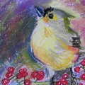 Bird And Berries by Emily Michaud