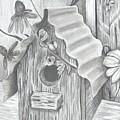Birdhouse And Flowers by DebiJeen Pencils