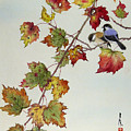 Birds On Maple Tree 4 by Ying Wong