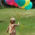 Birthday Balloons by Lisa  Westrope