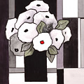 Black And White Funny Flowers by Carrie Allbritton