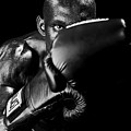 Black Boxer In Black And White 04 by Val Black Russian Tourchin