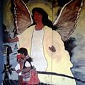 Black Guardian Angel Mural by Doug Duffey