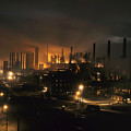 Blast Furnaces Of A Steel Mill Light by J Baylor Roberts