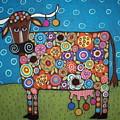Blooming Cow by Karla Gerard