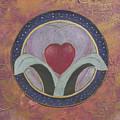 Blooming Heart Mandala by Jo Thompson