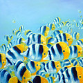 Blue And Yellow Fish by Gill Bustamante