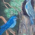 Blue Birds by Mikki Alhart