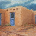 Blue Doors In Taos by Jerry McElroy