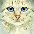 Blue-eyed Cat by Arline Wagner
