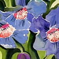 Blue Floral by Janet Doggett