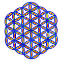 Blue Flower Of Life by Chandelle Hazen