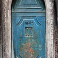 Blue Gothic Door In Venice by Michael Henderson
