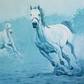 Blue Horses by Willem Arendsz
