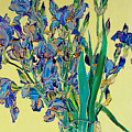 Blue Irises by Vitali Komarov