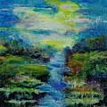 Blue Landscape. by Evgenia Davidov