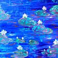 Blue Lily Pond by Inna Montano