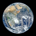 Blue Marble 2012 - Eastern Hemisphere Of Earth by Nikki Marie Smith