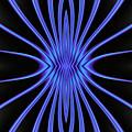 Blue Starburst On Black by Myxtl Turnipseed