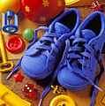 Blue Tennis Shoes by Garry Gay