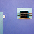 Blue Wall Window And Door by John Daly