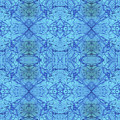 Blue Water Batik Tiled by Sue Duda