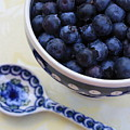 Blueberries And Spoon  by Carol Groenen