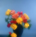 Blurred Roses In The Blue by Stefania Levi
