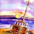 Boat Ashore by Janet Doggett