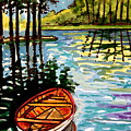 Boat On The Bayou by Elizabeth Robinette Tyndall