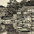 Boathouse Row In Sepia by Bill Cannon