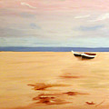 Boats On A Beach by Dillard Adams